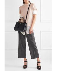 Prada - Black Galleria Medium Textured-leather Tote - Lyst