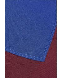 Olympia - Blue Lyon Two-tone Stretch-jersey Sports Bra - Lyst