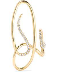 Yvonne Léon | Metallic Serpent 18-karat Gold Diamond Earring | Lyst