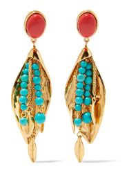 Aurelie Bidermann | Metallic Monteroso Gold-plated Beaded Clip Earrings | Lyst