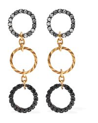 Erickson Beamon - Metallic Wild Thing Gold-plated Swarovski Crystal Earrings - Lyst