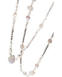 Chan Luu - Metallic Silver, Pearl And Labradorite Necklace - Lyst
