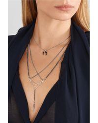 Chan Luu - Metallic Silver Crystal Necklace - Lyst