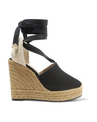 Castaner | Black Nerea Canvas Wedge Espadrilles | Lyst