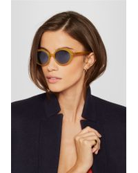 Oliver Peoples - Orange The Row Parquet Cat-eye Acetate Sunglasses - Lyst