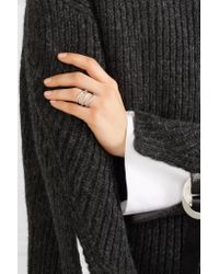 Jennifer Fisher | Metallic Small Abstract Line Silver-plated Ring | Lyst