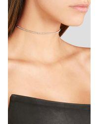 Diane Kordas - Metallic Bar 18-karat Rose Gold Diamond Choker Rose Gold One Size - Lyst