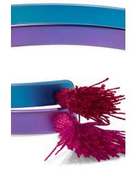 Ileana Makri - Blue Summer Titan Set Of Two Tasseled Titanium Cuffs - Lyst