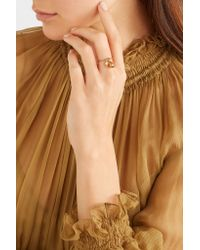 Ileana Makri - Metallic Belle Gold-plated, Pearl And Cubic Zirconia Ring - Lyst