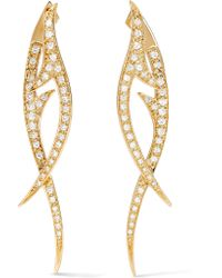 Stephen Webster | Metallic Thorn 18-karat Gold Diamond Earrings | Lyst