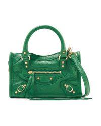 Balenciaga | Green Classic City Nano Textured-leather Shoulder Bag | Lyst