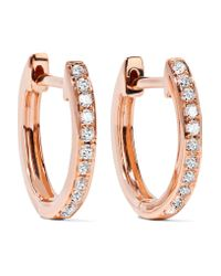 Anita Ko | Multicolor Huggy 18-karat Rose Gold Diamond Earrings | Lyst