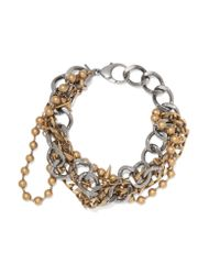 Balenciaga | Metallic Layered Silver And Gold-tone Necklace | Lyst