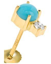 Jemma Wynne - Metallic 18-karat Gold, Turquoise And Diamond Earring - Lyst