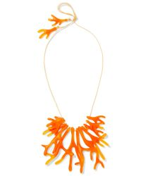 Dinosaur Designs - Orange Coral Fan Resin Necklace - Lyst