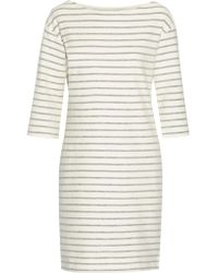 By Malene Birger | Natural Striped Cotton-terry Dress | Lyst