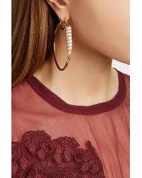 Kimberly Mcdonald - Metallic 18-karat Gold Chalcedony Hoop Earrings - Lyst