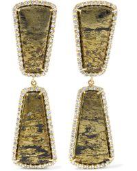 Kimberly Mcdonald | Metallic 18-karat Gold, Apache Gold And Diamond Earrings | Lyst