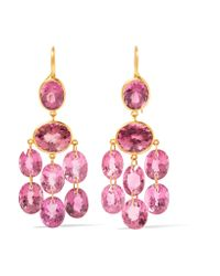 Marie-hélène De Taillac | Metallic 18-karat Gold Tourmaline Earrings | Lyst