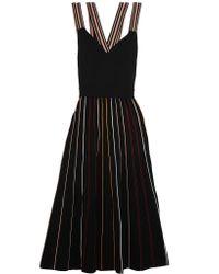 Roksanda - Black Shiori Striped Ribbed Stretch-knit Dress - Lyst