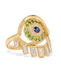 Ileana Makri | Metallic 18-karat Gold Multi-stone Ring | Lyst