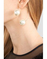 Simone Rocha   White Gold-tone Faux Pearl Earring   Lyst