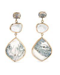 Melissa Joy Manning | Metallic 14-karat Gold And Sterling Silver Multi-stone Earrings | Lyst