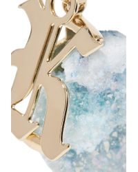 Christopher Kane - Multicolor Gold-tone Stone Brooch - Lyst
