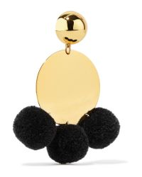 Elizabeth and James | Multicolor Stevie Pompom-embellished Gold-plated Earrings | Lyst