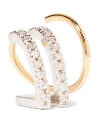 Maria Black - Metallic Bess Blanc Twirl 18-karat Gold, Rhodium-plated And Diamond Earring Gold R - Lyst