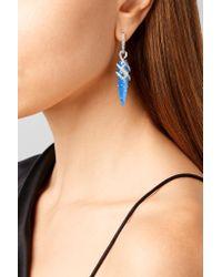 Stephen Webster - 18-karat White Gold, Quartz And Diamond Earrings - Lyst