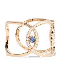 Delfina Delettrez | Metallic 18-karat Gold Multi-stone Ring | Lyst