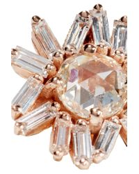 Suzanne Kalan - Metallic 18-karat Rose Gold Diamond Earrings - Lyst