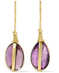 Pippa Small - Metallic 18-karat Gold Amethyst Earrings - Lyst
