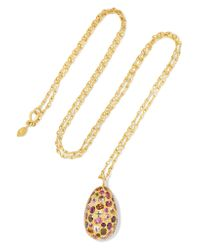 Pippa Small | Metallic 18-karat Gold Tourmaline Necklace | Lyst