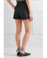 J.Crew | Black Ruffled Cotton-blend Shorts | Lyst