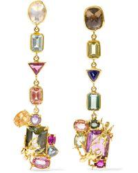 Daniela Villegas | Metallic Candy Store 18-karat Gold Multi-stone Earrings | Lyst