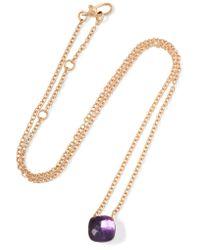 Pomellato | Metallic Nudo 18-karat Rose Gold Amethyst Necklace | Lyst