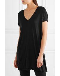 Rick Owens - Black Jersey T-shirt - Lyst