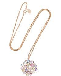 Amrapali | Metallic 18-karat Gold, Sapphire And Diamond Necklace | Lyst