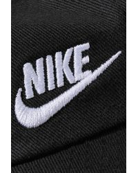 Nike Black Heritage 86 Embroidered Cotton-canvas Baseball Cap
