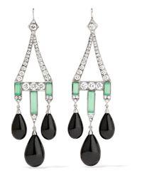 Fred Leighton - Metallic Collection 18-karat White Gold Multi-stone Earrings - Lyst