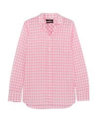J.Crew | Pink Boy Gingham Crinkled-cotton Shirt | Lyst