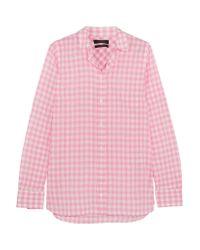 J.Crew - Pink Boy Gingham Crinkled-cotton Shirt - Lyst