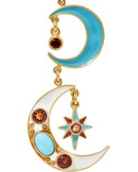 Percossi Papi - Metallic Gold-plated Multi-stone Earrings - Lyst