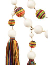 Rosantica - Multicolor Arlecchino Convertible Tasseled Beaded Gold-tone Necklace - Lyst