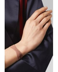 Carolina Bucci - Multicolor Melange Woven 18-karat Rose Gold And Silk Wrap Bracelet - Lyst