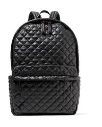 MZ Wallace | Black Metro Leather-trimmed Quilted Shell Backpack | Lyst