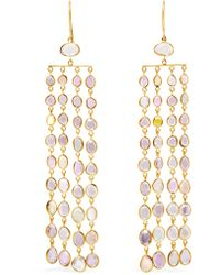 Pippa Small - Metallic 18-karat Gold Sapphire Earrings - Lyst