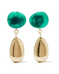 Dinosaur Designs | Green Short Mineral Gold-filled Resin Earrings | Lyst